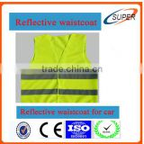 Unusual polyester reflective safety waistcoat