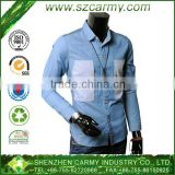 100% cotton Korea style shirt with turned-down collar long sleeve contrast cuff and button closure type