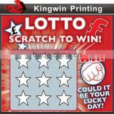 scratch panel card NO.71	offset printing machine pvc printing lottery scratch card scratch card with security design