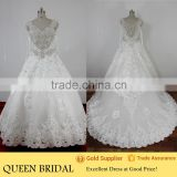 Ball Gown Sleeveless Crystal Beaded Short Front Long Back Wedding Dress                                                                         Quality Choice