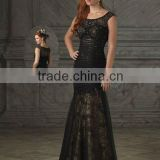 Black Spaghetti Straps Pleated Mermaid Trumpet Suzhou Mother Of Bride Dress Bridal Mother Dress XYY-wy022-20
