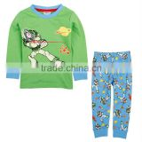 ( AB4559 ) GREEN 18M-6Y wholesale nova boy sleepwear high quality baby cartoon pajama set
