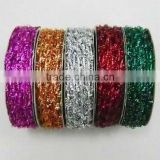 HOT SALE Shiny Sparkle Tinsel Rubber Elastic Cord, Elastic Ribbon, Elastic Band for Gift Wrapping