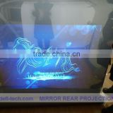 holographic transparent fixed frame projector screen advertising screen