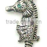 metal seahorse shape pendant necklace/ sea horse charms pendant,customized designs, ISO9001:2008 certified manufactory