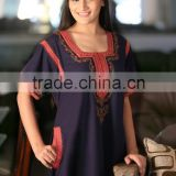 2015 Embroidered kaftans & Gowns for ladies / High-quality design printed girls wear dress