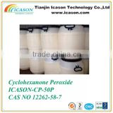 Cyclohexanone Peroxide curing of auto body plastic filler or putties with high quality