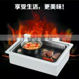 smokeless and non stick kamado ceramic bbq grill florabest with infrared burners and aluminum cooking ware