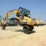 famous XINIU brand 8 tons wheel excavator 0.3cbm mini digging equipment