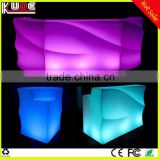 multi color changing Wave Shape LED Bar Counter, Portable Bar Counter, Light up Bar Counter