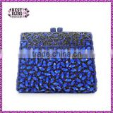 new arrival shape blue clutch bag evening royal blue trapezoidal ladies wedding bag party bag fashion (88142A-B)