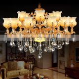 Newest 24 Light Style Luxury Chandelier Crystal LED Crystal Chandelier Light Diamond Ring Pendant LED Light