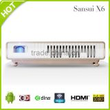 Wholesale Sansui X6 Portable Mini DLP LED Projector multifunction Android Bluetooth WIFI Projector