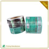 Skin Care Private Label Cosmetics Clear Jar Labels in Roll
