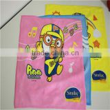 Baby microfiber towel with heat transfer printing designs