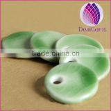 Diy Green Wafer Ceramic Earrings Accessories Dedicated