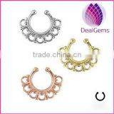 American&European style new fashion fake nose ring non piercing nose ring