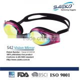 Vision Mirror - Fashionable Silicone Adjustable Silicone Strap Mirrored lens Swimming Goggles