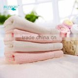 bamboo fiber baby's small square towel soft kids hand towel colorful baby bids