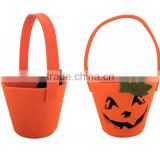 Felt halloween bag for party or gifts package decoration hallowmas pumpkin bag hot sale gifts as promotion