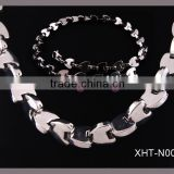 2012 spring new design 316 L stainless steel bio magnetic 4 in 1 germanium bracelet and necklace, love gift.
