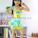 professional factory wholesale one-piece Polyester Swimsuit For Kids Girls Swimwear