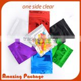 Resealable Clear poly and silver mylar gift bags for party favors and jewelry goody bag