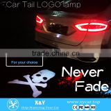 Red Car Led Laser Fog Light Rear Anti-Collision Brake Tail lights Warning Lamp logo brake light