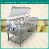 LXTP-3000 Commercial vegetable washing and peeling machine ,potato peeler machine,carrot washer with 304 stainless steel