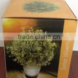 solar flower pot solar planter pot plastic solar flower pot