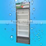 hot sale single glass door beverage cooler price, supermarket display showcase refrigerator