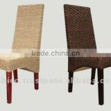 Design 2012 wood, natural rattan, water hyacinth dining chair