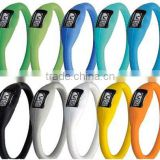 Silicone bracelet watch