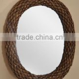 Water hyacinth mirror frame