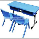 BEST SCHOOL FURNITURE SET/DOUBLE CHILDERN TABLE AND CHAIRS LT-2146D