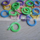 Pony Flat 27mm Coloured Plastic Crochet Split Ring Stitch Count Marker
