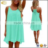 Ecoach 2017 wholesale Womens one piece Summer Sexy Vibrant Color Chiffon Bathing Suit beach dress Cover Up
