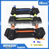Adjustable Waist Pack/Pouch Fits Accessory Pockets - Hydration Running Belt With 2 Bottles - Customized Logo&Color&Package Belt