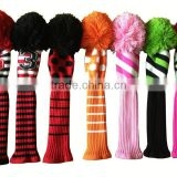 2017 custom golf driver headcovers knitted golf club headcovers