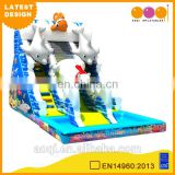 2016 AOQI newest design Arctic ocean giant inflatable pool water slide with free EN14960 certificate