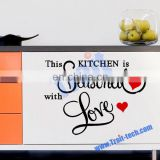 """This Kitchen is..."" English Famous Sayings wall stickers DIY Removable Wall Quotes Decals Wall Stickers"
