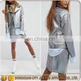 2017 Fashion Silver Faux-leather Notch Lapels BikerJackets OEM Coats Jin Ying Apparel