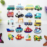 Promotional custom traffic transportation vehicle soft pvc rubber decorative fridge magnet,3D bus, car, airplane Souvenir Silic