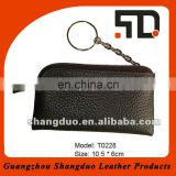 Custom Gift Key Ring Coin Purse Fashion Leather Change Bag