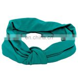 Popular OEM Solid Color Elastic Seamless Sports Fabric Headband