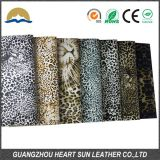 leopard pu synthetic leather for shoes