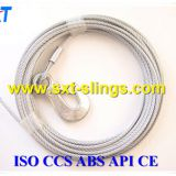 galvanized steel wire rope slings exporter 6*49SWS+IWR
