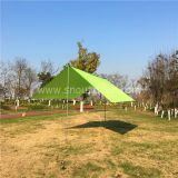 Camping Tarp Shelter Green Color For Outdoor Sun Shade 3X3Meter