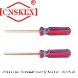 Phillips Screwdriver with Flameproof Safety and Spark Free Plastic Handle