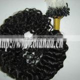Curly Brazilian virgin micro ring loop hair,made in China